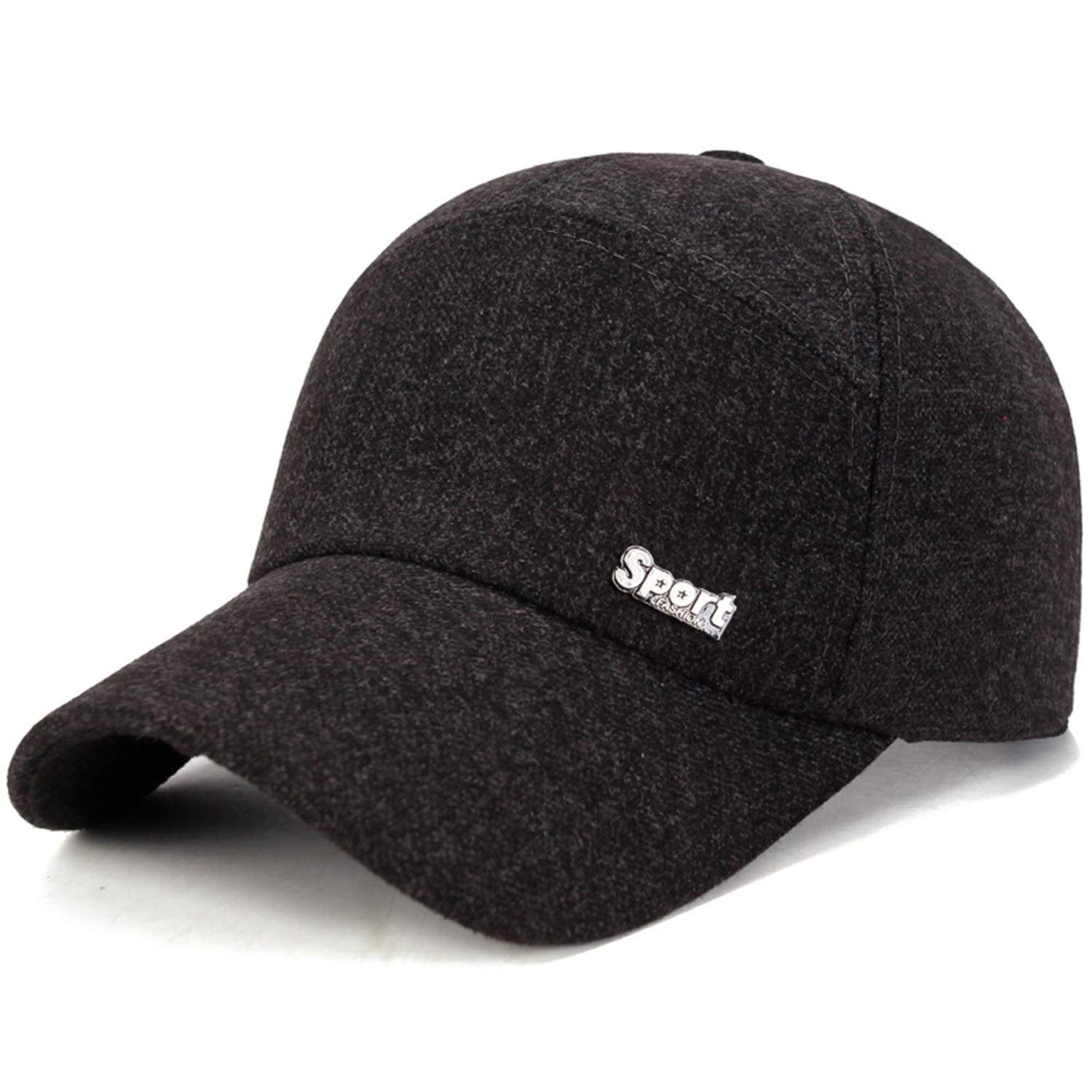 New Classic Men Baseball Cap Spring Summer Wool Hat with Earflap Adjustable Trucker Caps Casual Hats