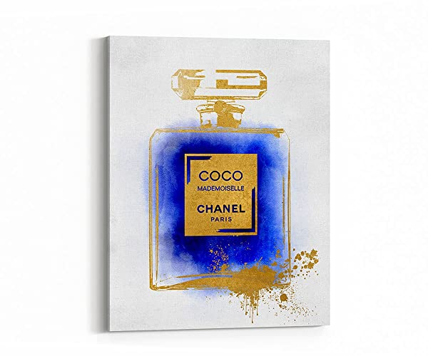 Amazoncom Wall Art Poster Print Coco Chanel Ad Perfume Bottle