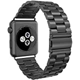 RETECK Apple Watch Strap 42mm, Stainless Steel Apple Watch Band Replacement Strap 42mm for Apple Watch Series 3 Series 2 Series 1-Black