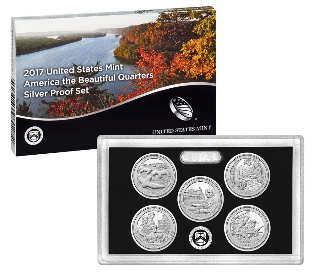 2017 S US Mint Silver Proof Set with Box//COA Free Shipping!