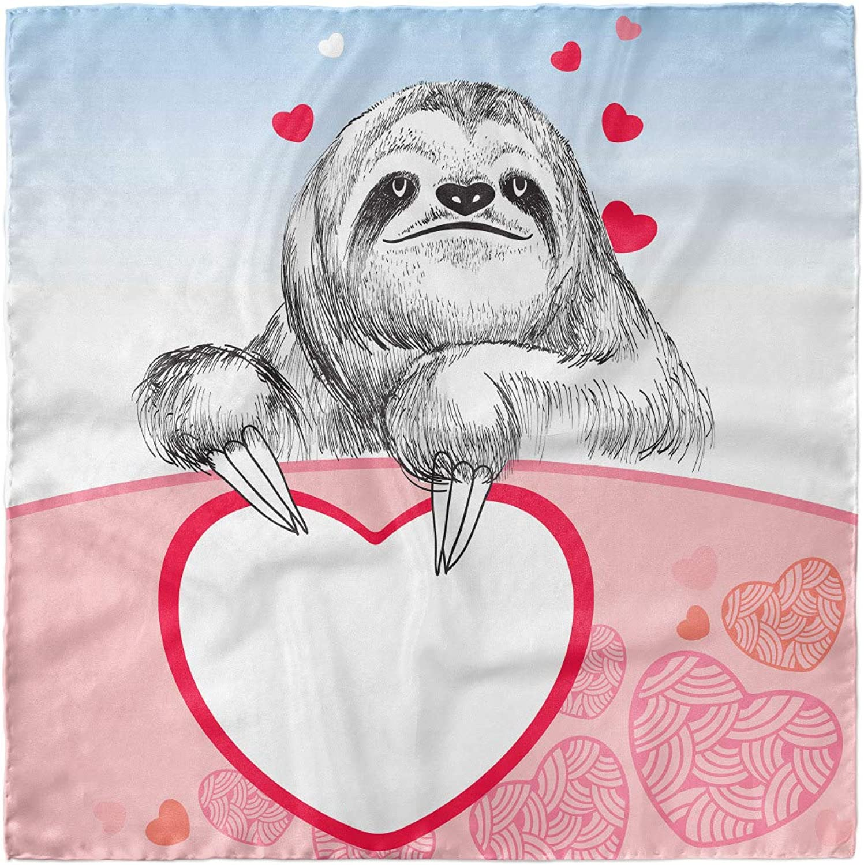 Head Wrap Romantic Sloth in Love Ambesonne Sloth Hairscarf
