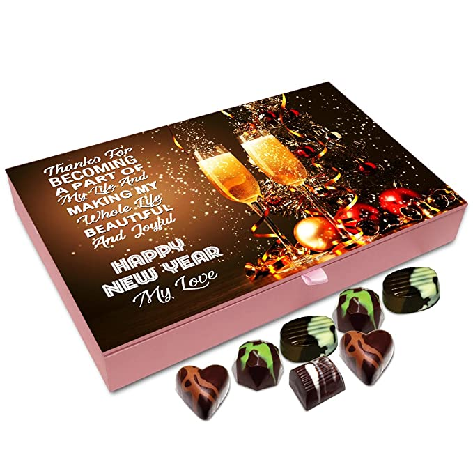 chocholik new year chocolate box thanks for becoming part of my life and have a