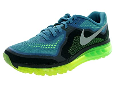 Nike Mens Air Max 2014 Running Shoes Reflect Blue/Reflect Silver/Flash Lime/
