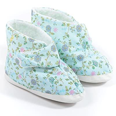 CareActive EBF1-1-BFL Ladies EdemaBoot-Small-Blue Floral