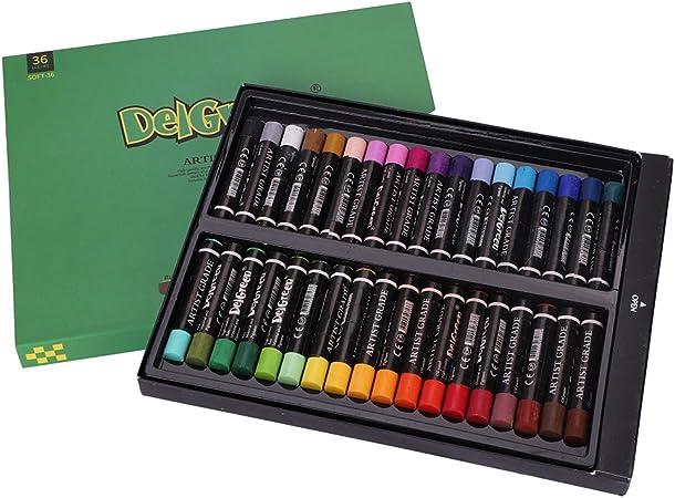 Kit de 12/36 palo de pintura óleo (principiantes Pastel Gras óleo Vara coloré lavable - Estuche de pinceles bolígrafo de cepillo Parfait de pintura dibujo sobre lienzo barro Canevas: Amazon.es: Hogar