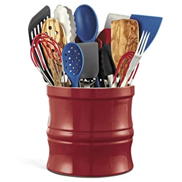 CHEFS Kitchen Tool Crock, Red