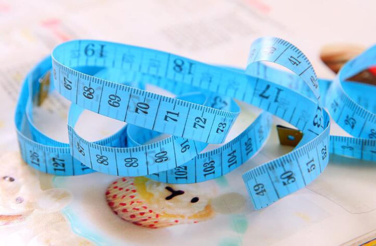 6 Pieces 150 cm//60 inch Double-scale Tailor Sewing Mini Soft Tape for Measuring Length Weight Loss