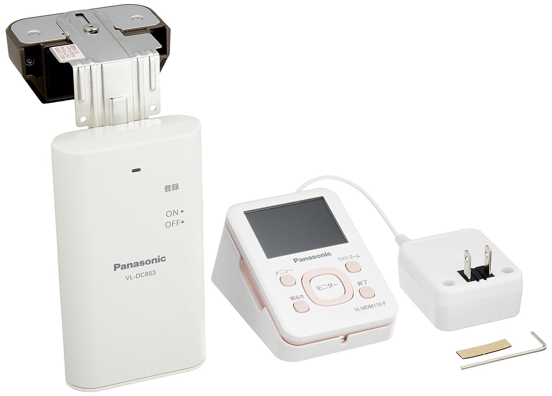 Panasonic ワイヤレスドアモニター ドアモニ ピンク ワイヤレスドアカメラ+モニター親機 各1台セット VL-SDM110-P B00HZD5LOK ピンク ピンク