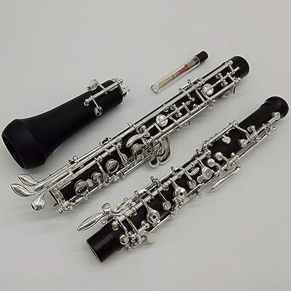 Llavero profesional de Oboe C con llave de baquelita, chapado en plata, con accesorios