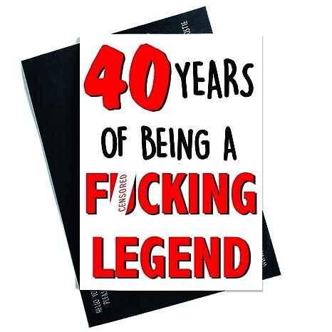 Tarjeta de felicitación de 40 cumpleaños divertida para ...
