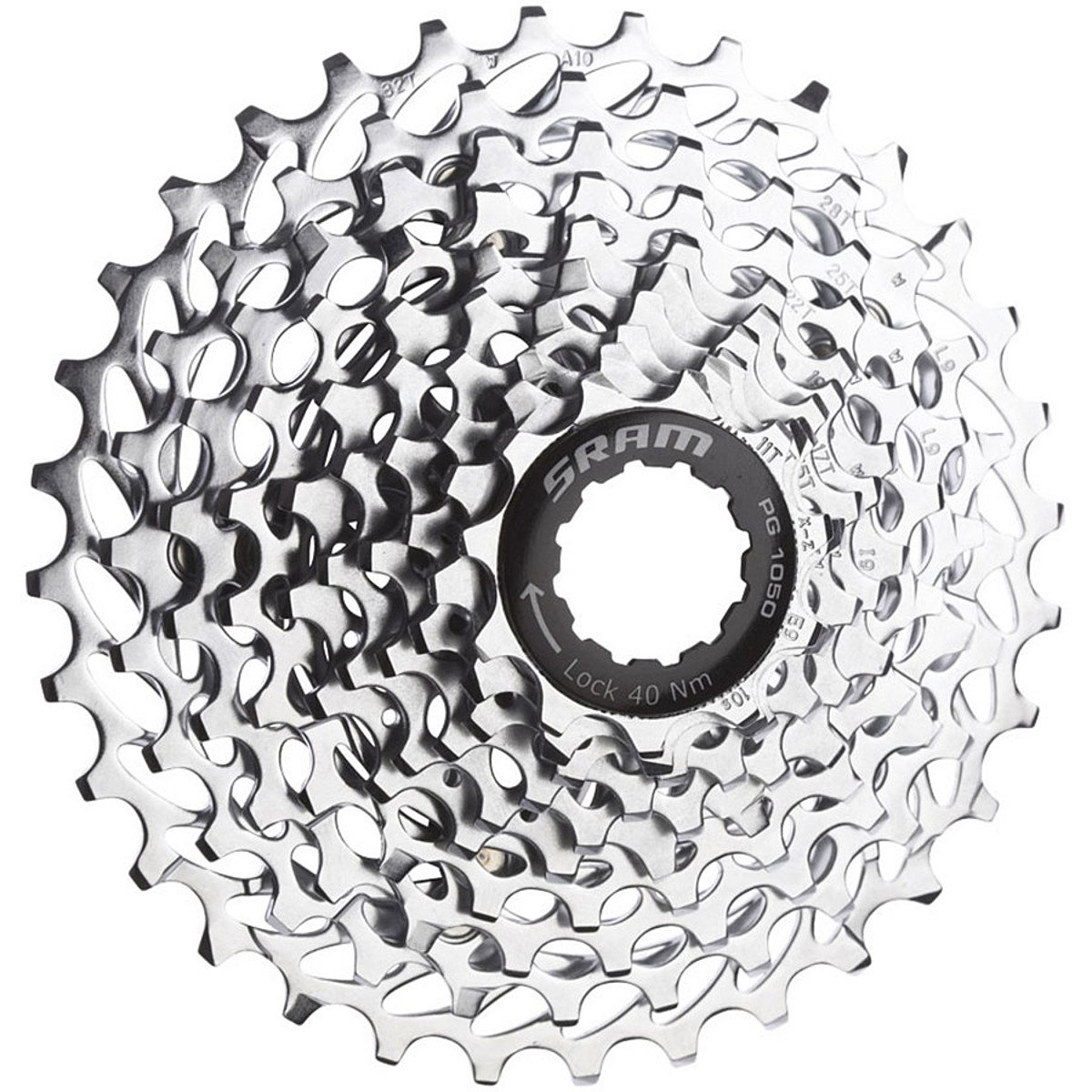 SRAM PG-1050 Cassette (10-Speed) One Color, 11x26 by SRAM
