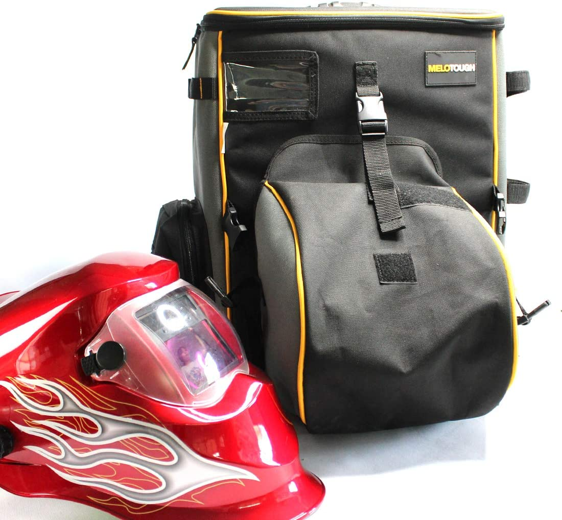 Melo Tough Welding backpack Extreme Gear Pack with Helmetcatch