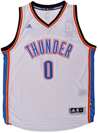 1d9c23c8779 Russell Westbrook Oklahoma City Thunder Adidas White Home Swingman Jersey ( Large)