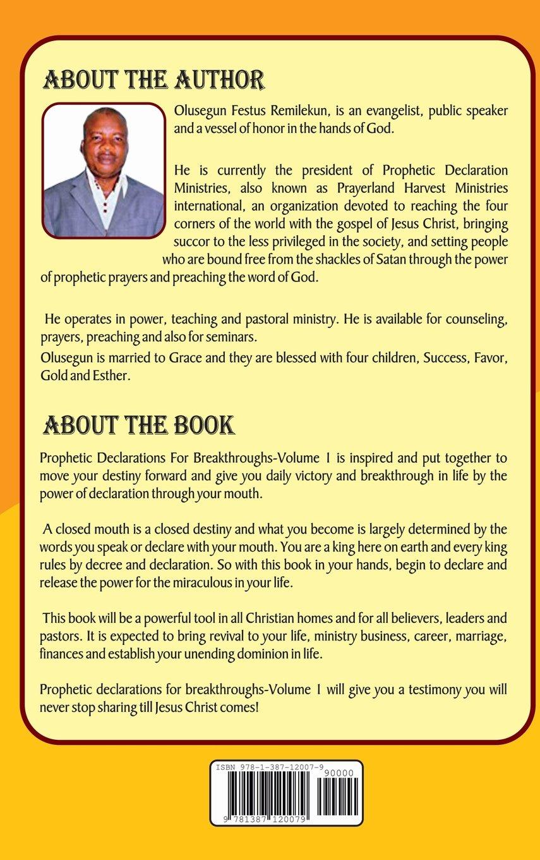 Prophetic Declarations for Breakthroughs 35 Powerful life