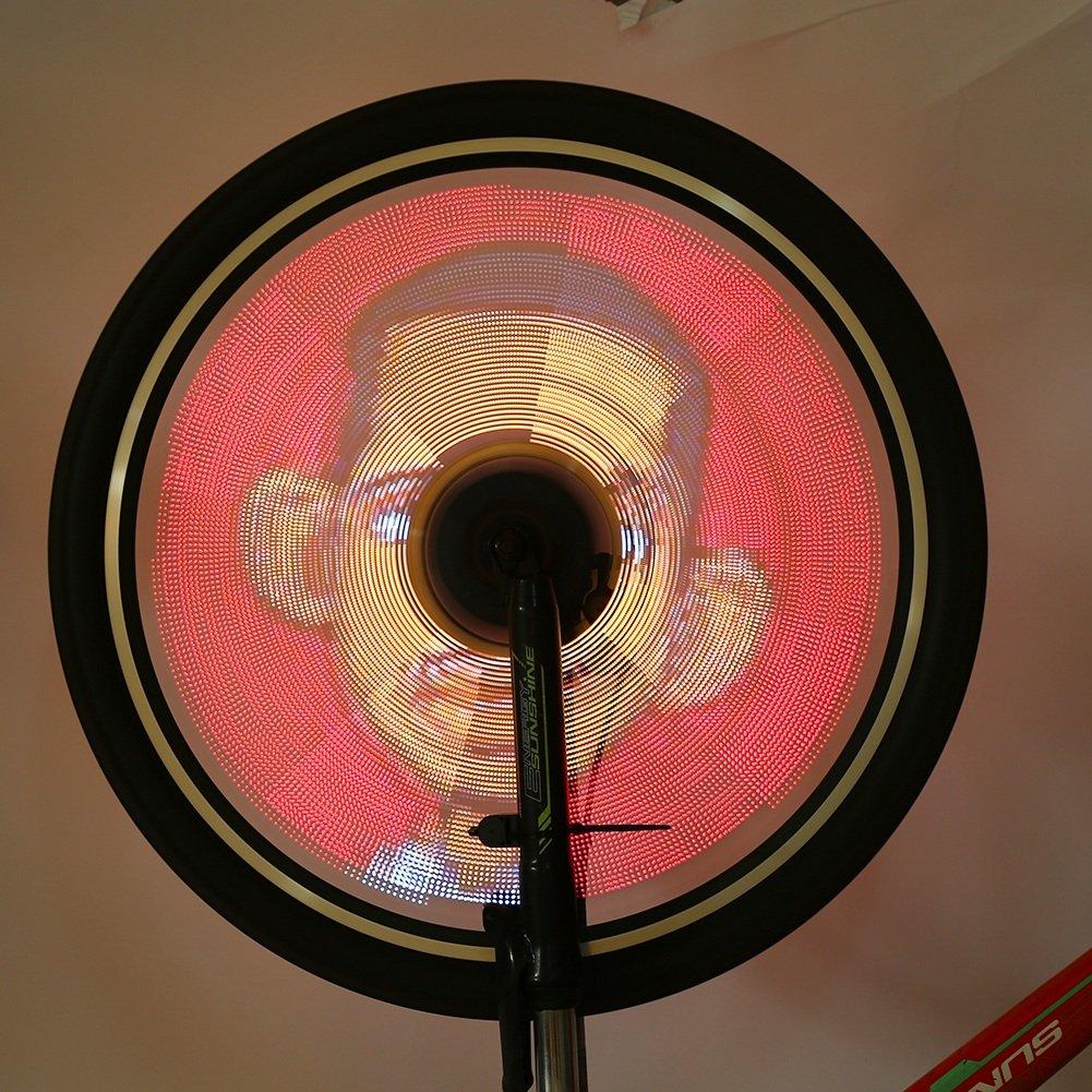 LED Bicycle Wheel Lights, Bluetooth Bike Waterproof Decorative Light Kit With Battery