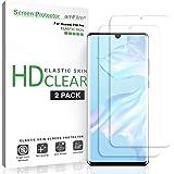 amFilm Screen Protector for Huawei P30 Pro (2 Pack), Flexible (Case Friendly) HD Clear Elastic TPU Film Screen Protector for