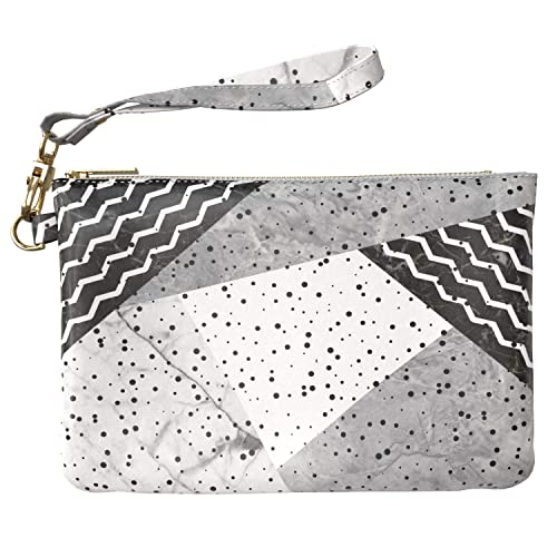 5ef49b53d4ed Lex Altern Makeup Bag 9.5 x 6 inch Black White Geometric Polka Dot ...