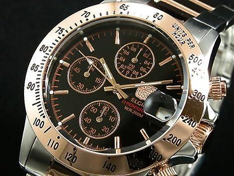 581a64d9bd Amazon | [エルジン]ELGIN 腕時計 クロノグラフ メンズ FK1184PG-B [並行 ...