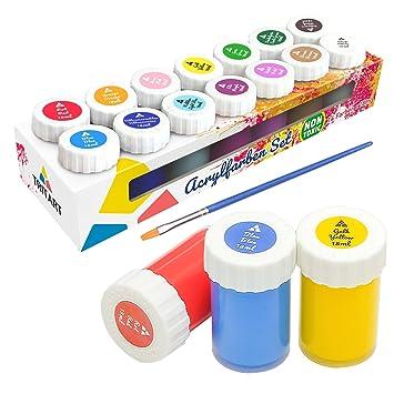 Amazon.de: Acryl-Farben-Set für Kinder und Erwachsene | 14er Acryl ...