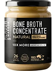Meadow & Marrow Beef Bone Broth Concentrate - Natural Flavour - 260 Grams - Australian Grass Fed Beef - 10 X More Amino Acids/G* - Free from Gluten, Diary Nuts & Soy