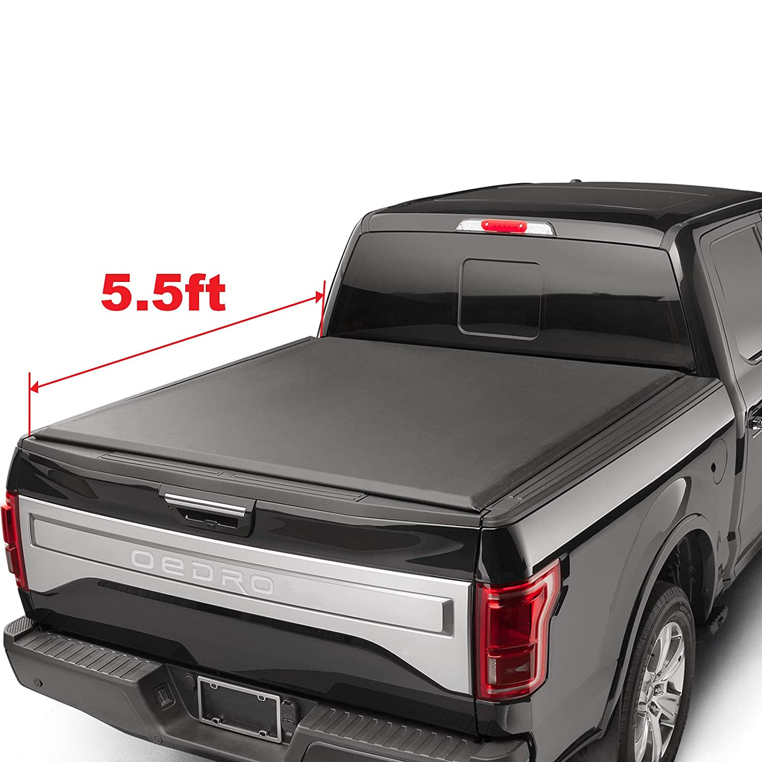 oEdRo Roll Up Truck Bed Tonneau Cover Compatible with 2009-2014 Ford F-150 | Styleside 5.5' Bed