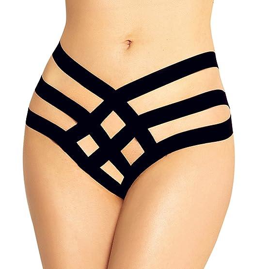 209931a93c2ea RwalkinZ Women s Plus Size Thongs XS - 5XL   14W - 37W Black Width Bandage  Tanga