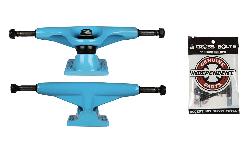 テンソルSkateboard Trucksブルー5.25 7.87