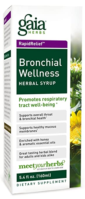 Bronchial Wellness Herbal Syrup Gaia Herbs 5.4 oz