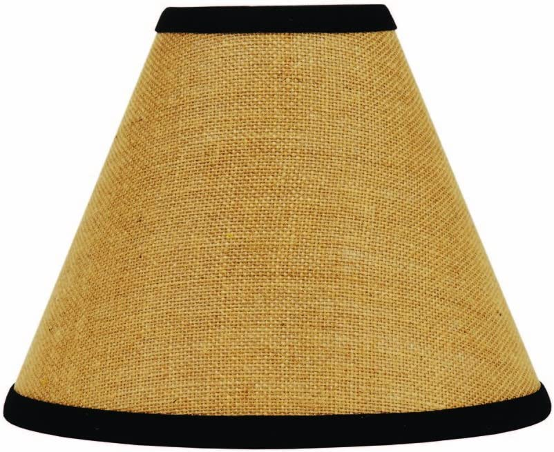 Home Collection by Raghu Black Burlap Stripe Lampshade, 6
