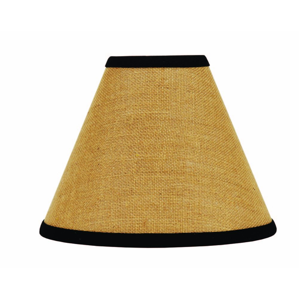 Home Collection by Raghu Black Burlap Stripe Lampshade, 6''