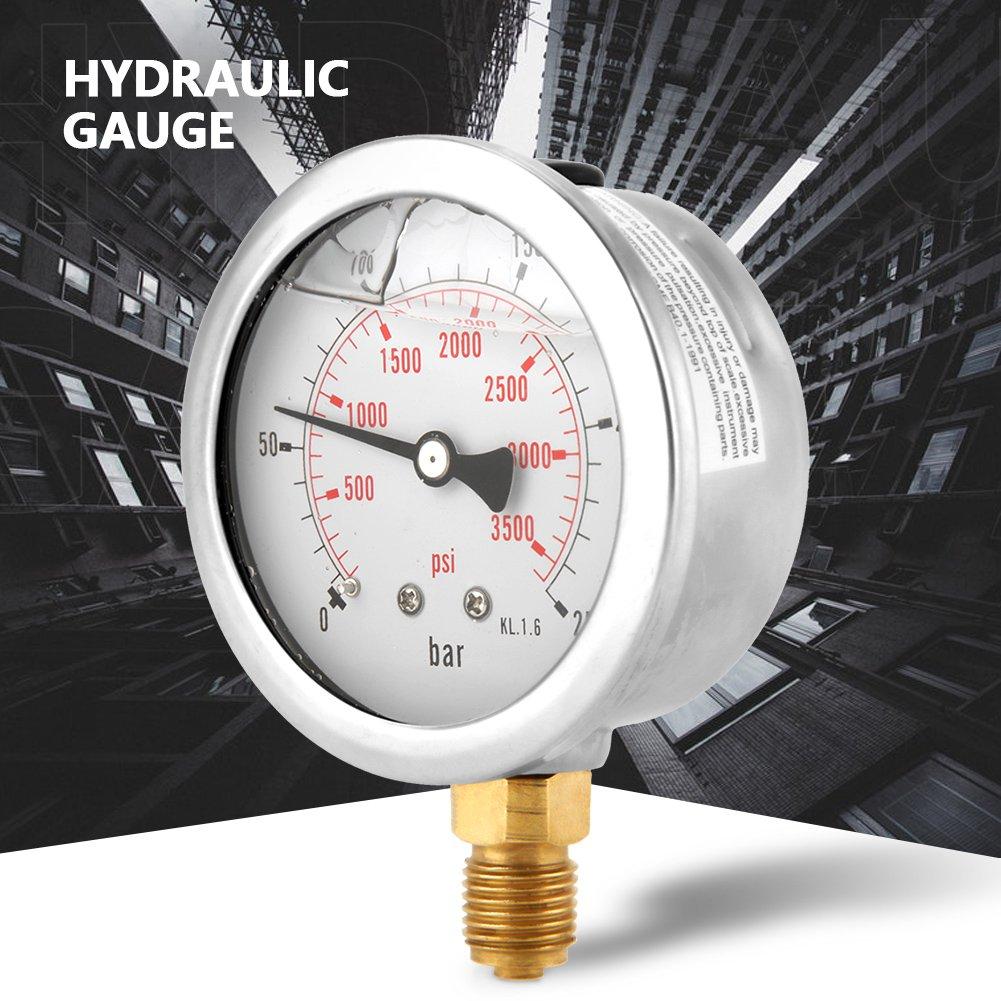 manom/ètre tout usage pour mesure de kgf//cm/²//psi. Manom/ètre G1//4 0-250Bar Manom/ètre 0-3750PSIDial pour eau hydraulique