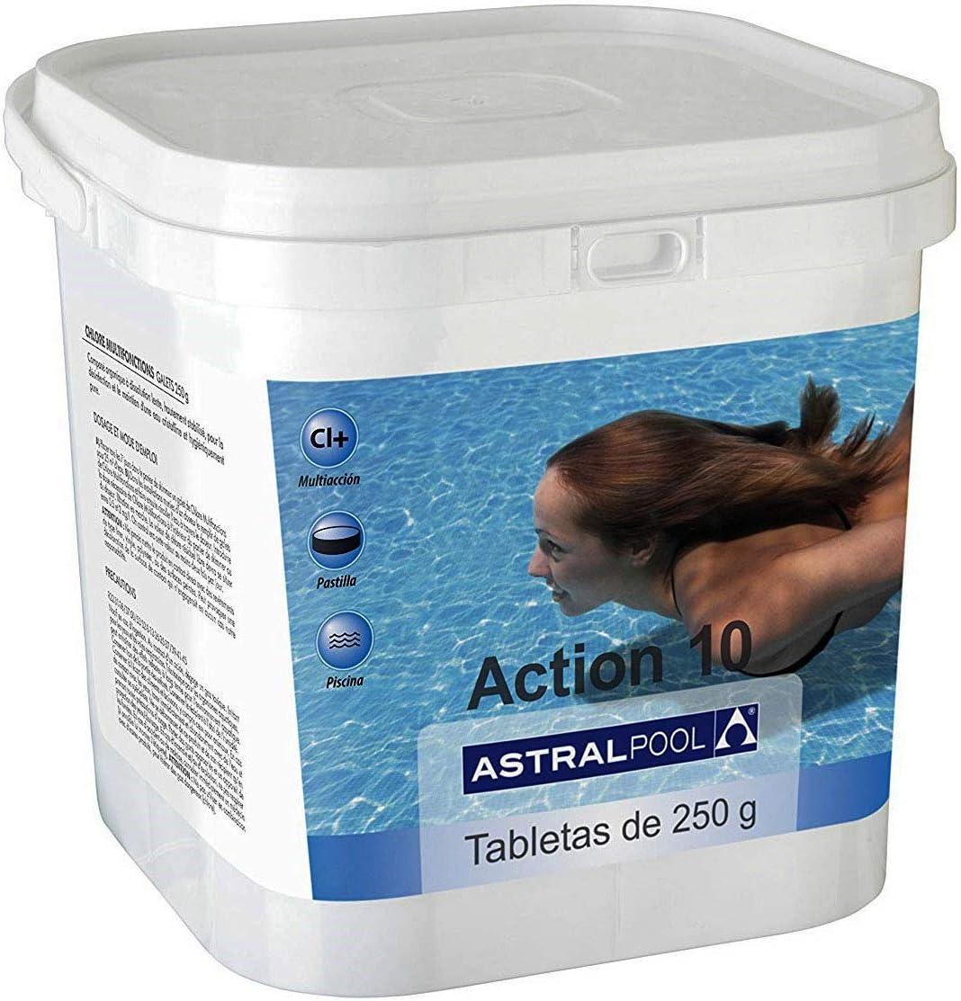 Cloro multiacción Astralpool Accion 10. Bote 5Kg: Amazon.es: Jardín