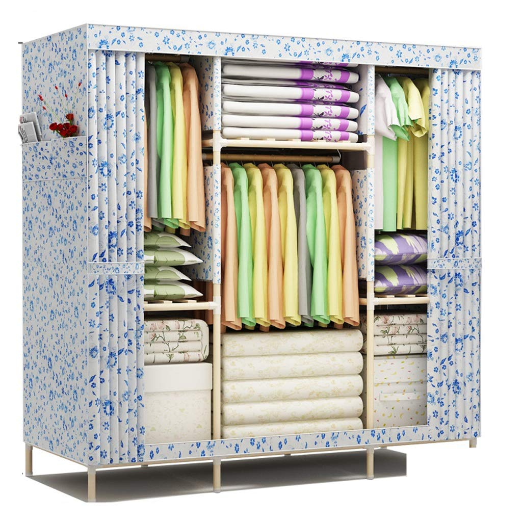 Hai Yan Boutique Cloth Wardrobe Cloth Wardrobe Assembly Folding Cabinet Storage Clothes Locker Large (Color : D) by Hai Yan