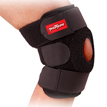 PrettyCare Knee Brace Support (Unique Silicon Patella Stabilizer & Bilateral Spring Support)  Breathable Knee