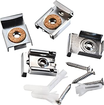 LOT OF 4 boxes CRL Nickel Plated E-Z Mount Mirror Clips  655 /& Mounting Screws