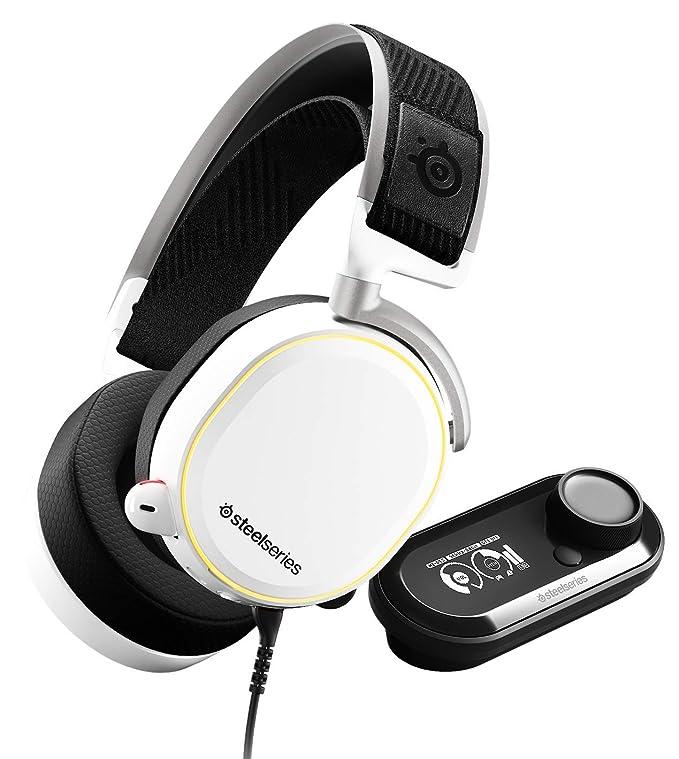 SteelSeries Arctis Pro GameDAC - Auriculares de Juego - Sonido de Alta resolución Certificado - Chip ESS Sabre DAC - Blanco: Amazon.es: Informática