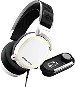 SteelSeries Arctis Pro + GameDAC Gaming Headset With Noise Cancellation Microphone - Certified Hi-Res Audio System for PS4 and PC (White) | 61454 (PS4)