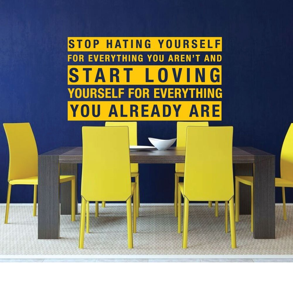 Motivational Affirmation Vinyl Wall Decal Quotes:\