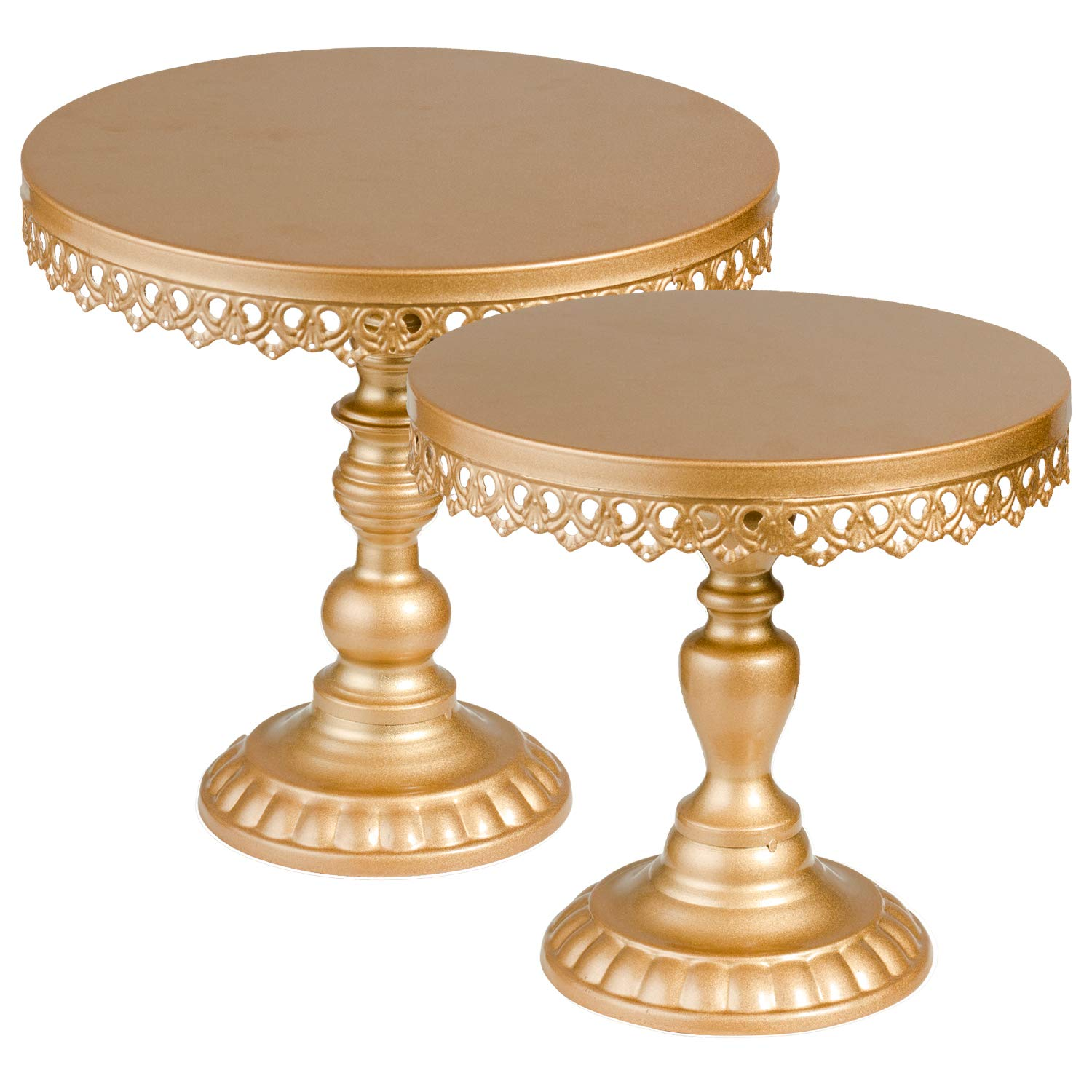 Gold Cake Stand,Round Metal Antique Cupcake Holder,Dessert Cupcake Stand/Display/Plate for Wedding Birthday&Party - Cake Stands - Cake Plate -
