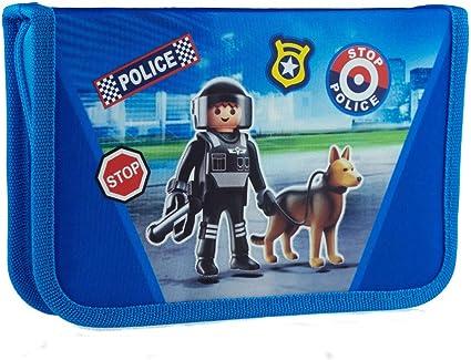 Trousse Playmobil Policier Pour 31 Pieces Avec Crayons De Coloriage Amazon Fr Fournitures De Bureau