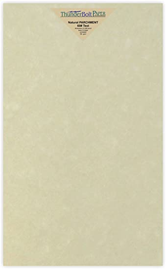 50 Natural Parchment 60# Text (u003d24# Bond) Paper Sheets   8.5u0026quot  Colored Writing Paper