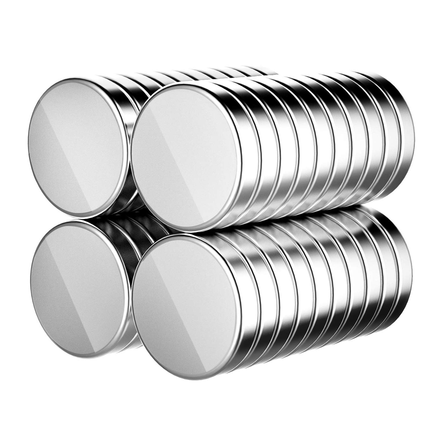 ZJW 50 Pack Neodymium Cylinder Fridge Magnets with 10 Pack Metal Magnetic Push Pins for Noticeboard Fridge Pinboard Magnetic board