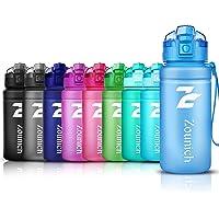 ZOUNICH Trinkflasche Sport 1.2L/1L/700ml/500ml BPA frei öko tritan kunststoff Wasserflasche 1liter Sportflaschen Auslaufsichere für kinder, Fahrrad,Gym,Schule,Flip Top,öffnet sich mit 1-Click, Infuser