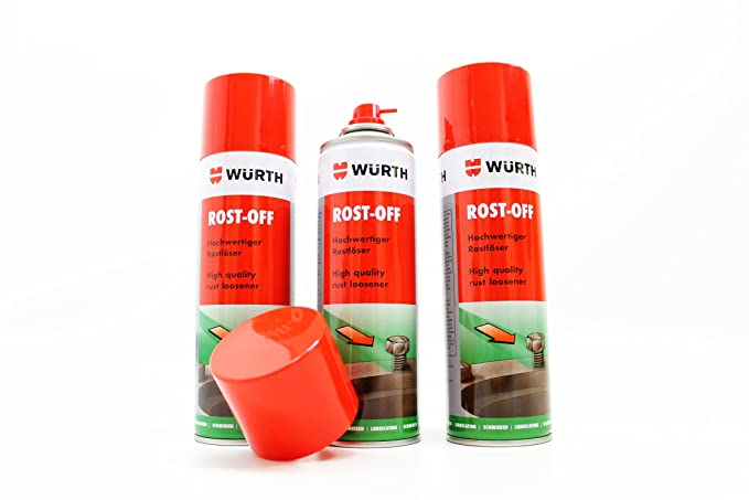 Wurth Rust Remover Rost Off Spray Can 300 Ml 3 Pieces Sabesto