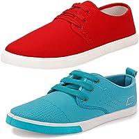 Earton Men's Stylish & Trendy Combo Canvas Sneakers