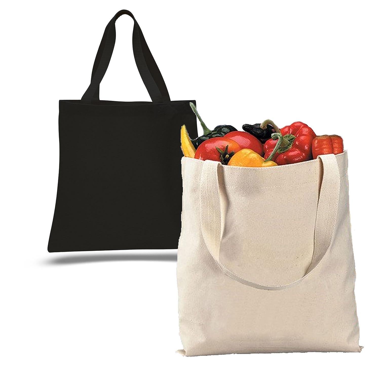 バルク – 12パック – 1ダース – 100 %キャンバスSuper Thick材質12oz。Reusable Grocery Shopping Tote Bags in Bulk – Arts and Crafts – DIY – 学校プロジェクトPlainキャンバストートバッグ B074JFVTRJ ナチュラル ナチュラル