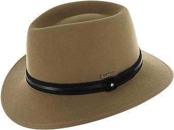 Cappello di lana 100/% lana impermeabile e pieghevole per uomo e donna con rivestimento in pelle e inserti per cappello Cappello da trekking arrotolabile in feltro Cappello da trekking