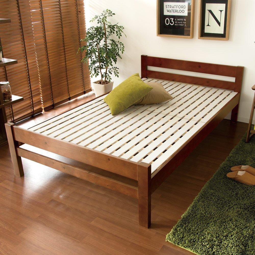 エアリゾーム ベッド セミダブル すのこ スノコベッド ベッドフレーム 高さ調整 木製すのこベッド Arielle(アリエル) セミダブルサイズ ブラウン B07BRL199J Parent ブラウン