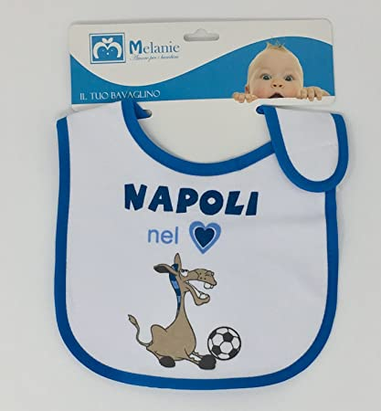 bavetta bavaglino neonato napoli egidio alfio  Amazon.it  Prima infanzia 9da60a8a7211