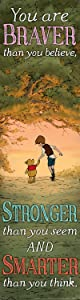 """Eureka Winnie The Pooh Vertical Classroom Banner, Braver Than You Believe, Measures 45 x 12"""""""